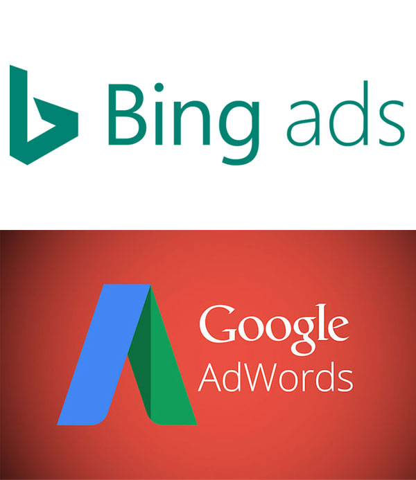 Bing Ads, Google Adwords